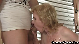 Mature D/s takes two cocks