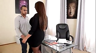Office Adventures- My Boss is a Cock Sucker Mummy
