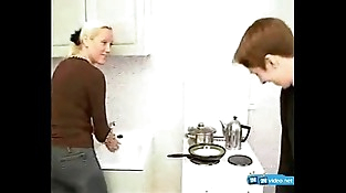 Blonde Russian Mom and Son