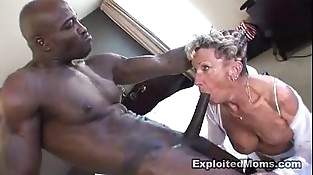 Old Granny takes a big black shaft in her ass Anal Interracial Flick