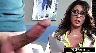 Tall Big-titted Doctor Jessica Jaymes Milking Her Patient