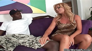 Mature milf fucked by black cock