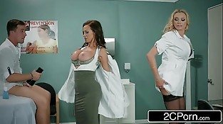 Dick Stuck In Fleshlight - Doctors Briana Banks &amp_ Nikki Benz Give Forearm