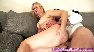 Spex granny anally fucked hard
