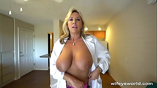 Big-titted Sex Dr Finger Banged Before Her Jizz Facial cumshot