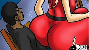 PAWG Red Haired Milf uses her big ball-sac for her black step son