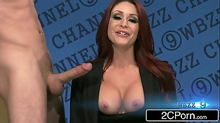 Redhead News Anchor Monique Alexander Takes Big Cock