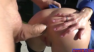 Mature assfuck licking, fisting, wide open and fucking