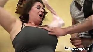 buxomy mom group-fucked