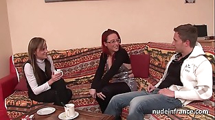 FFM Pretty unexperienced french milf hard anal penetration for her casting couch