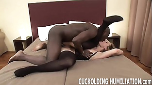 Watch me gulp a big black dick right in front of you