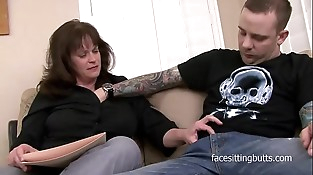 The strongly tattooed young stud fucks his mature private tutor