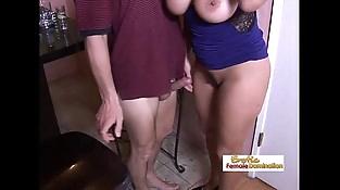 Tipsy mummy slut drilled hard by the horny bartender at the bar