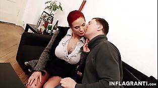 Busty German Mummy Redhead secretary