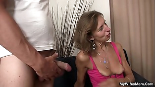 He agrees fuck her old mom