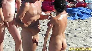 Voyeur Inexperienced Nude Beach Mummies Hidden Webcam Close Up