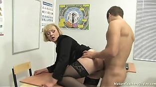 Russian mature teacher 6