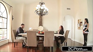 Trophy Wife Monique Alexander Mounds Over the Breakfast Table and Fucked