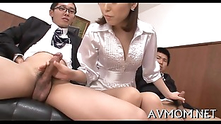 Sexy mom i'_d like to fuck devours large cock