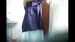 My bro wifey caught in my hidden webcam hot shower