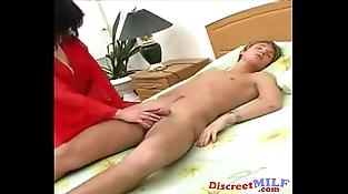 Mom Tamila tempt young boy