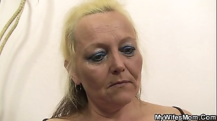 Old mom in law taboo photosession