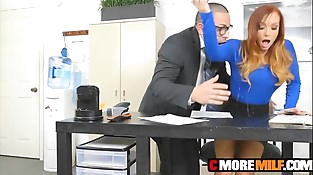 Big titty manager Dani Jensen fucked and facialized by employee