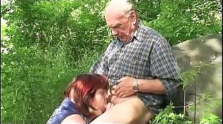 Granny Outdoor Fucking