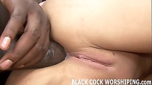 I love getting violated by two big black dicks at the same time