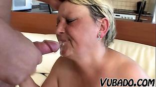 Youthfull boy bangs hard his friends mom!